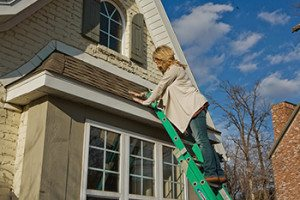 Lady On Roof
