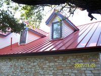 metal roof red