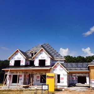 large new construction roofing and siding in bentonville