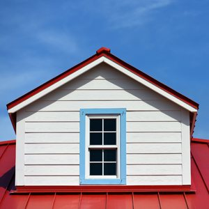 dormer window with metal roofing in NW Arkansas