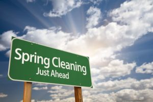 Have roofing contractor clean gutters Spring Cleaning
