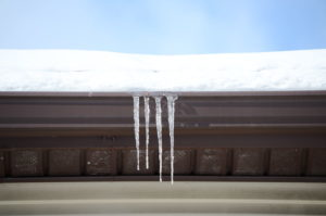 roofing contractor roof leaking icicles